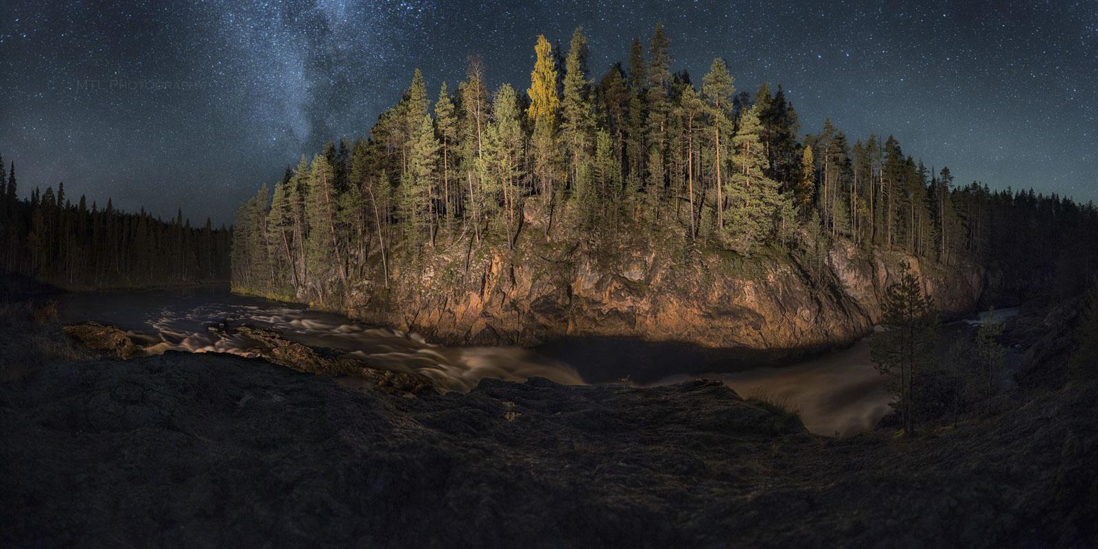 Kiutaköngäs nightscape